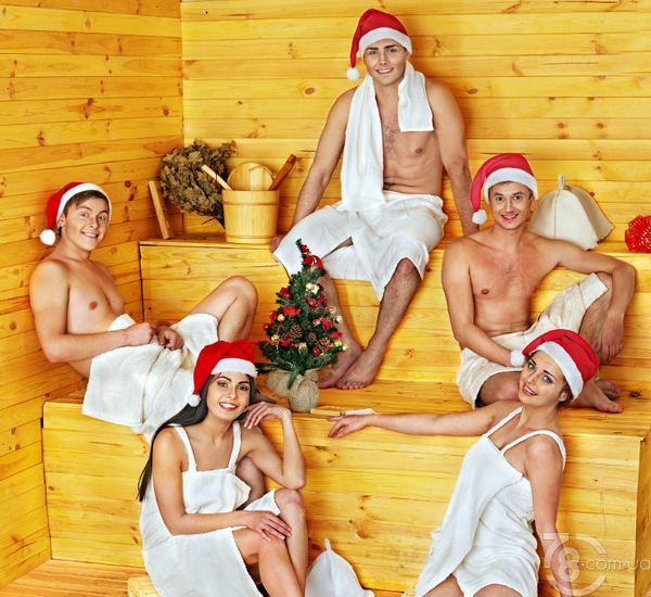 групповой секс в бане фото